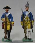Herst.unbekannt: Zwei preußische Soldaten, 1756 bis 1763
