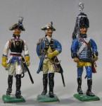 Herst.unbekannt: Drei preußische Kavalleristen, 1756 bis 1763
