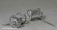 Diverse Hersteller: Vierpfünder Kanone mit Protze, 1870 bis 1871