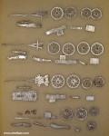 Verschiedene Hersteller: Vier Geschütze mit Protzen, 1789 bis 1815