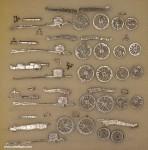 Verschiedene Hersteller: Fünf Kanonen und Protzen, 1789 bis 1815