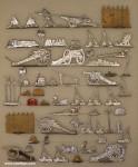 Verschiedene Hersteller: Kriegsgerät und Schlachtfeldzubehör, 1600 bis 1920