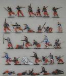 Verschiedene Hersteller: Fliehende Infanterie, 1870 bis 1871