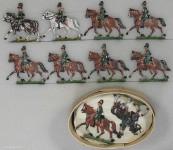 Heinrichsen: Chevaulegers im Trab, 1870 bis 1871