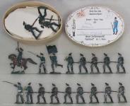Heinrichsen: Jäger vorgehend, 1870 bis 1871