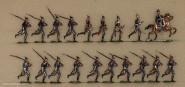 Heinrichsen: Infanterie zum Angriff laufend, 1870 bis 1871