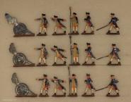 Heinrichsen: Haubitzenbatterie feuernd, 1776 bis 1783