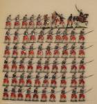 Verschiedene Hersteller: Infanterie mit Tschako angreifend, 1850 bis 1870