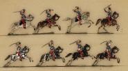 Heinrichsen: Leichte Kavallerie im Angriff, 1870 bis 1871