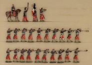 Heinrichsen: Infanterie mit Tschako feuernd, 1850 bis 1870