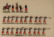 Heinrichsen: Infanterie mit Tschako schießend, 1850 bis 1870