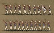 Diverse Hersteller: Infanterie in Parade, 1888 bis 1914