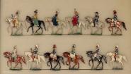 Heinrichsen: Kaiserliche Suite zu Pferd mit Damen, 1871 bis 1918