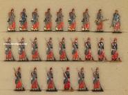 Rieche: Infanterie mit Trommlercorps, 1870 bis 1871