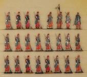 Rieche: Infanterie stehend in Reserve, 1870 bis 1871