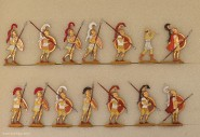 Berliner Zinnfiguren: Hopliten im Halt, 3000 v.Chr. bis 400 n.Chr.
