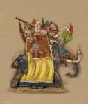 Kieler Zinnfiguren: War elephant attacking, 3000 v.Chr. bis 400 n.Chr.
