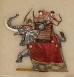 Menz: War elephant charging., 3000 v.Chr. bis 400 n.Chr.