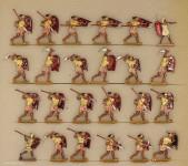 Kieler Zinnfiguren: Ancient egyptian infantry attacking, 3000 v.Chr. bis 400 n.Chr.