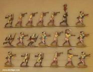 Kieler Zinnfiguren: Ancient egyptian archers advancing, 3000 v.Chr. bis 400 n.Chr.