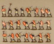 Hafer: Ancient nubian infantry advancing, 3000 v.Chr. bis 400 n.Chr.