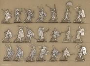 Kieler Zinnfiguren: Ancient egypt heavy infantry attacking, 3000 v.Chr. bis 400 n.Chr.