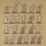 Verschiedene Hersteller: Ancient egypt archers firing, 3000 v.Chr. bis 400 n.Chr.