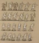 Verschiedene Hersteller: Ancient egypt archers fighting, 3000 v.Chr. bis 400 n.Chr.