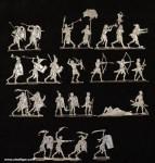 Kieler Zinnfiguren: Fußvolk im Kampf, 3000 v.Chr. bis 400 n.Chr.