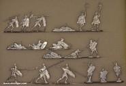 Kieler Zinnfiguren: Römische Krieger zu Fuß kämpfend, 6. Jh.v.Chr. bis 6. Jh.