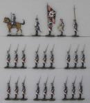 Berliner Zinnfiguren: Musketiere im Halt, 1756 bis 1763