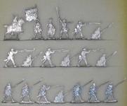 Kieler Zinnfiguren: Musketiere im Feuer, 1756 bis 1763