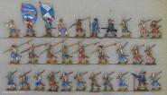 Vorberg: Infanterie vorgehend, 1618 bis 1648