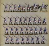 Kieler Zinnfiguren: Grenadierbataillon im Marsch, 1756 bis 1763
