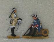 Berliner Zinnfiguren: Friedrich II. bei Kolin, 1756 bis 1763