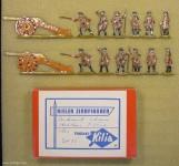 Kieler Zinnfiguren: Schwere Artillerie im Feuer, 1756 bis 1763