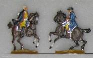 Kieler Zinnfiguren: Zwei Adjutanten zu Pferd, 1756 bis 1763