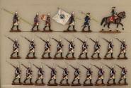 Berliner Zinnfiguren: Grenadiere vorgehend, 1712 bis 1786