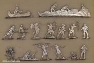 Verschiedene Hersteller: Indianer und Trapper, 18. Jh.