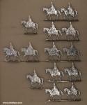 Berliner Zinnfiguren: Flügelmützenhusaren, im Schritt, 1712 bis 1786