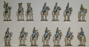 Berliner Zinnfiguren: Musik der Garde-Dragoner, 1810 bis 1815