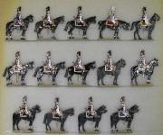 Kieler Zinnfiguren: Grenadiere zu Pferd im Halt, 1804 bis 1815
