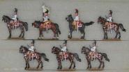 Kieler Zinnfiguren: Kürassiere im Halt, 1812 bis 1815