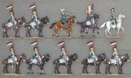 Kieler Zinnfiguren: Chevaulegers Lanciers, 1812 bis 1815