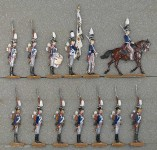 Kieler Zinnfiguren: Garde-Infanterie im Halt, 1808 bis 1815