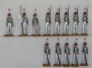 Diverse Hersteller: Grenadiere angetreten, 1812 bis 1815