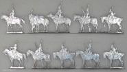Kieler Zinnfiguren: Husaren beim Rekognoszieren, 1789 bis 1800