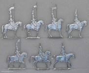 Fechner: Offizierspatrouille im Halt, 1808 bis 1815