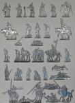 Berliner Zinnfiguren: Typentafel Scholtz Figuren, 1812