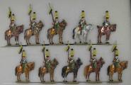 Kieler Zinnfiguren: Ulanen im Halt, 1804 bis 1815